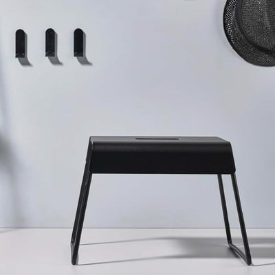 skammel A-stool, sort