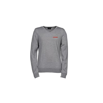 V-neck knit in grey, Unisex