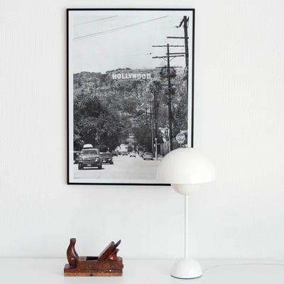Flowerpot bordlampe i hvid