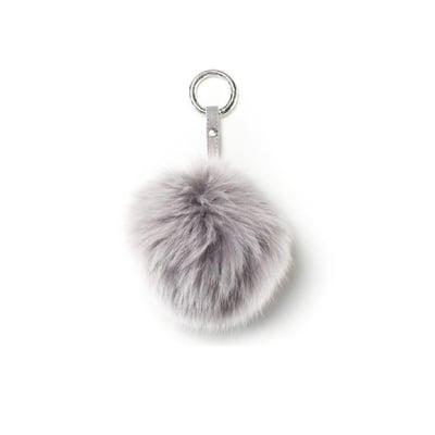 Pom Pom nøglering Ø10 cm, silver