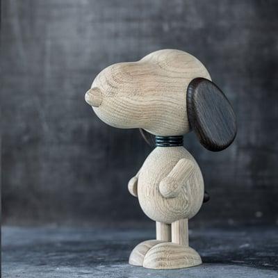 Beagle i massivt egetræ 15 cm