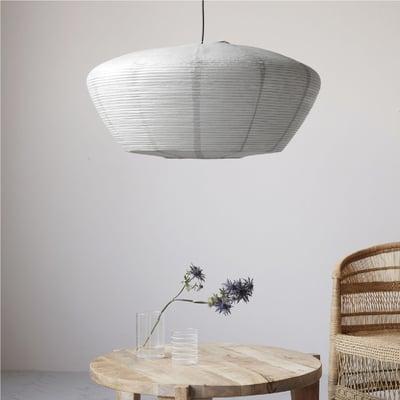 Lampeskærm, Bidar grå - Ø:81,5 cm.