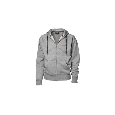 Sweat Full zip Hooded in Light Grey - Unisex