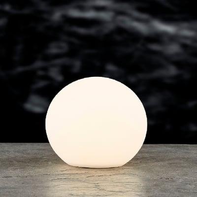 LED kuglelampe med solar 30x28 cm, hvid