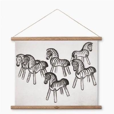 Stregtegning - Zebra, 40x30 cm..