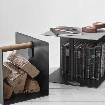 Container med træhåndtag