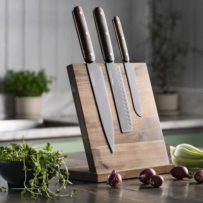 Knivholder i akacietræ, ekskl. knive