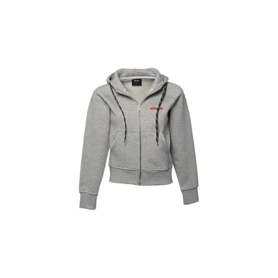 Sweat Full zip Hooded in Light Grey - Ladies