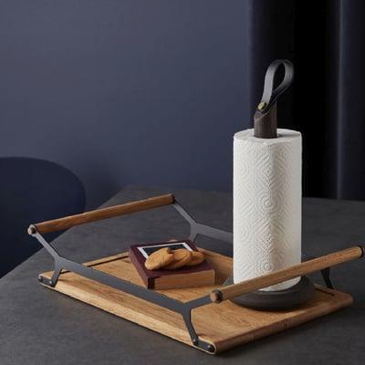 Nordic Kitchen køkkenrulleholder, sort