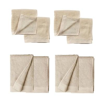 Håndklædepakke 8 stk. - offwhite