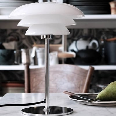 DL20 Opal Bordlampe, hvid