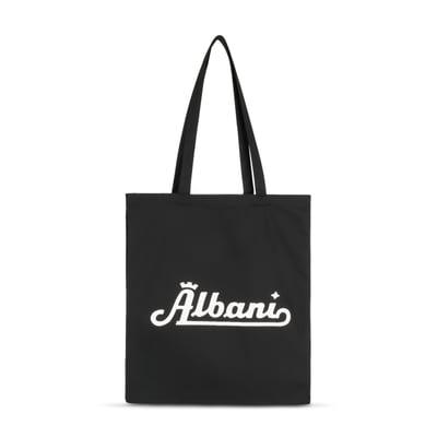 Mulepose med retro Albani-logo