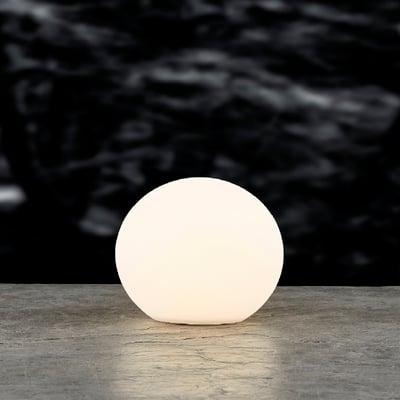 LED kuglelampe med solar 25x23 cm, hvid
