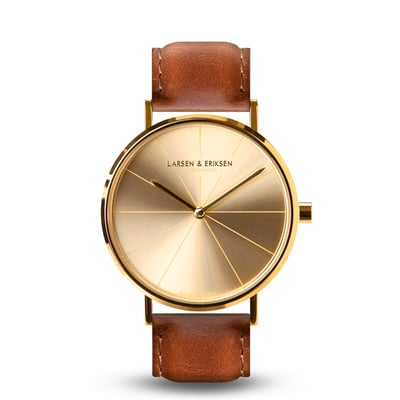 Absalon ur med brun rem, unisex