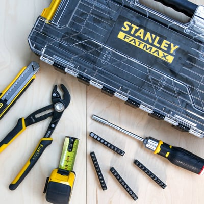 Værktøjskasse med 44 dele