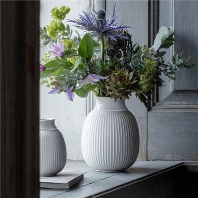 Curve vase H: 17,5 cm, hvid