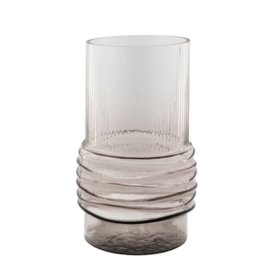 Vase i røgfarvet glas