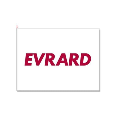 Flag size 150x200 cm with HARDI-EVRARD logo