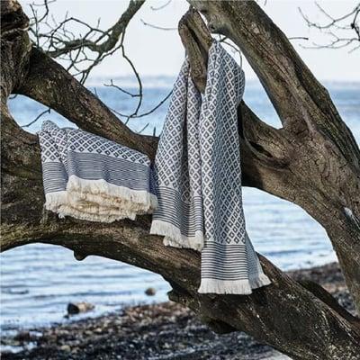 INU hammam håndklæde 75x150, grå 1 stk
