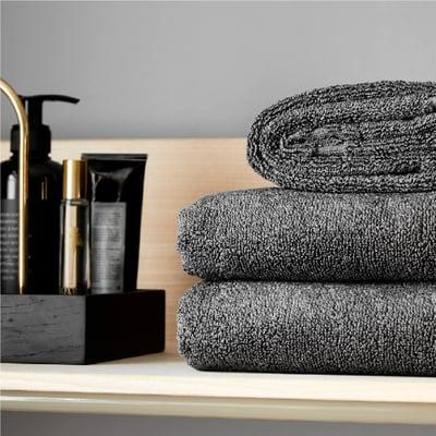 Håndklæde 1 stk. - grå, 50x100 cm