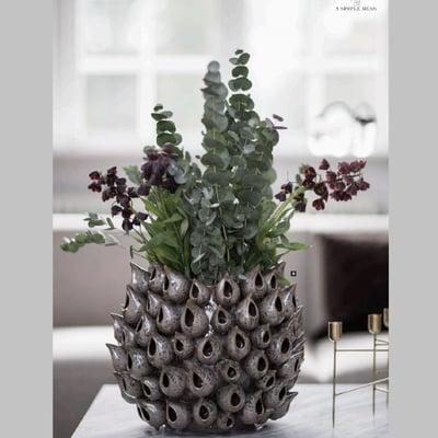 Bark vase, grå - stor