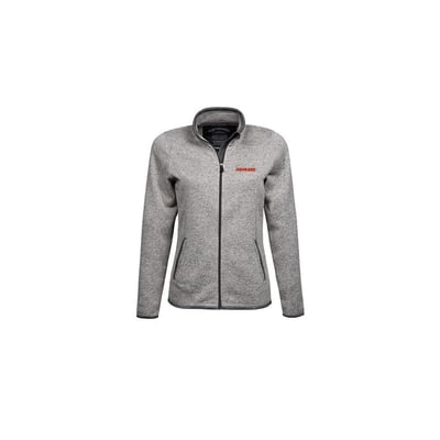 Knitted fleece jacket in Grey, Ladies