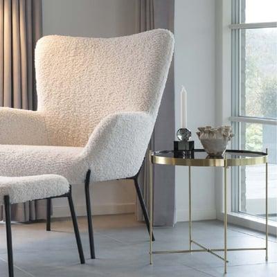 Granada Sofabord Ø48 cm, messing