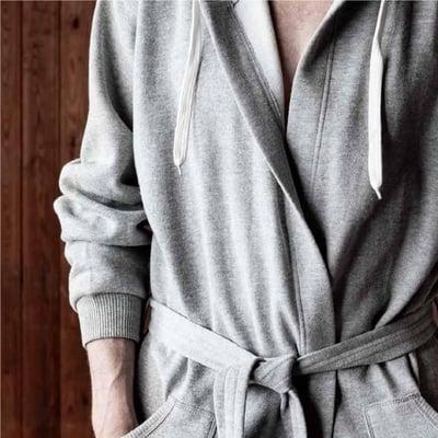 badekåbe grå, str. S/M
