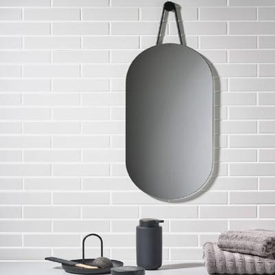Vægspejl A-serien, sort