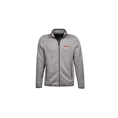 Knitted fleece jacket in grey, unisex