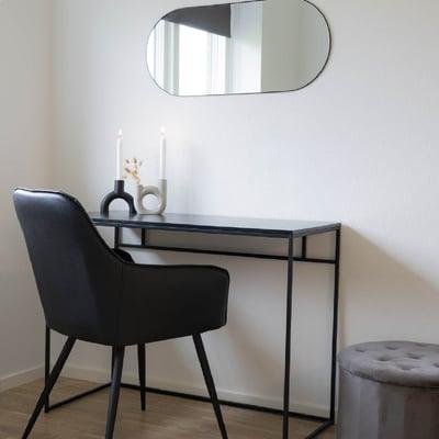 Skrivebord sort stål