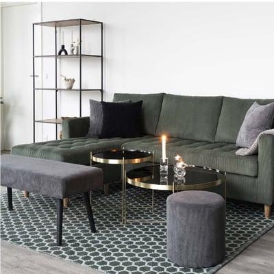 Granada Sofabord Ø70 cm, messing