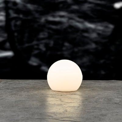 LED kuglelampe med solar 20x18 cm, hvid