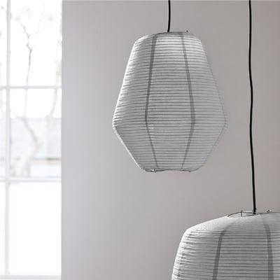 Lampeskærm, Bidar grå - Ø:36 cm.